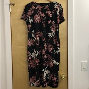 J Jill Wearever Floral Maxi Sheath Dress
